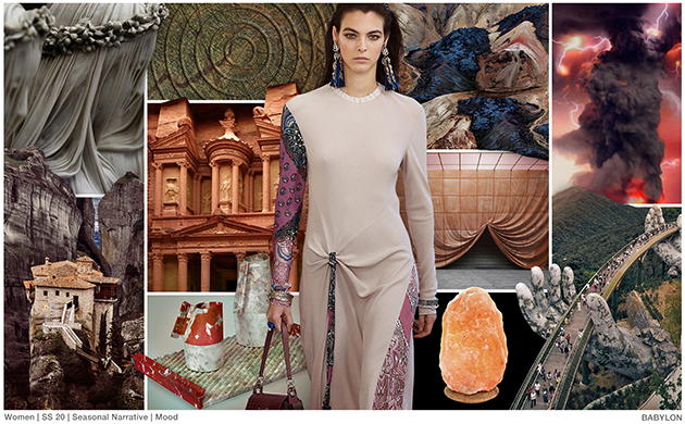 Fashion Snoops trend Babylon mood board